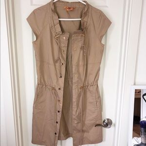 Tory Burch sleeveless trench vest size 4 tan